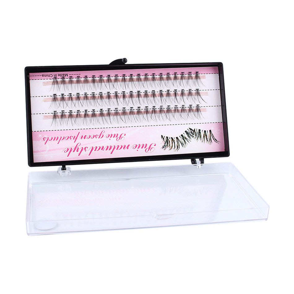 8 10 12mm 60 Bundle Set False EyeLashes Extension Kits Individual Cluster Natural Long Grafted Fake Eyelashes Beauty Makeup Tool in False Eyelashes from Beauty Health