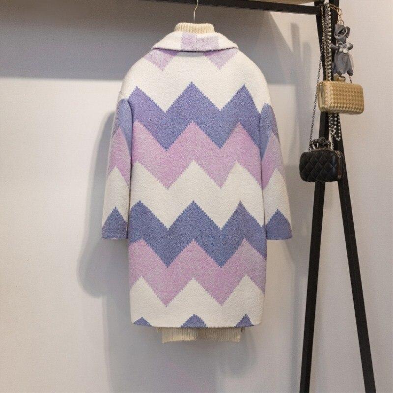 Datos históricos QSC otoño capa abrigo Mujeres Nuevo 2018 de moda de manga larga abrigo de invierno primavera Oficina engrosamiento cuello abrigo - 3