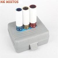 NK MIXTOS 3Pcs 1 2 Inch 17mm 19mm 21mm Alloy Thin Wall Car Wheel Deep Impact