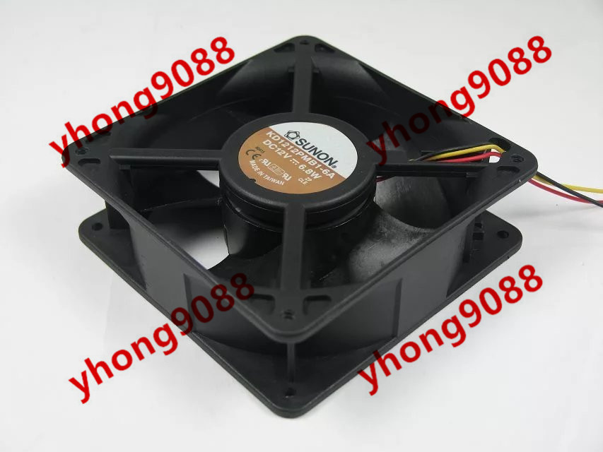 Free Shipping For SUNON KD1212PMB1-6A DC 12V 6.8W 3-wire 120x120x38mm Server Square Cooling Fan free shipping for sunon kd1212pmb1 6a dc 12v 6 8w 3 wire 3 pin connector 110mm 120x120x38mm server square fan