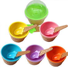 1Set Ice Cream Bowl Spoon Clear/Fluffy Slime Box Popular Kids Food Play Toys For Children Charms Lizun Clay DIY Kit Accessories(China)