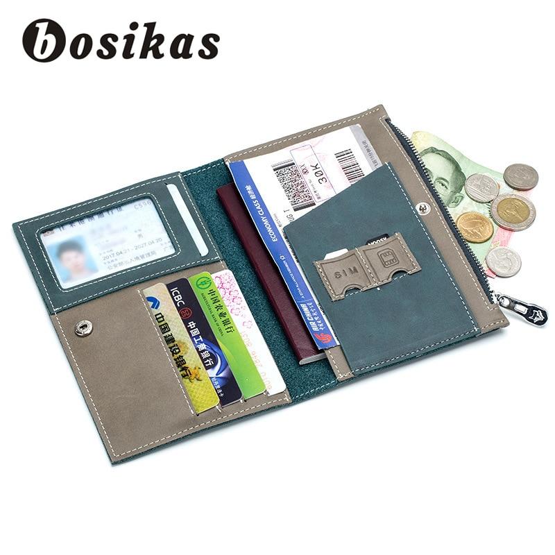 BOSIKAS Travel Pass Cover Card Väska Kvinnor Herr Plånbok Resor - Plånböcker - Foto 4