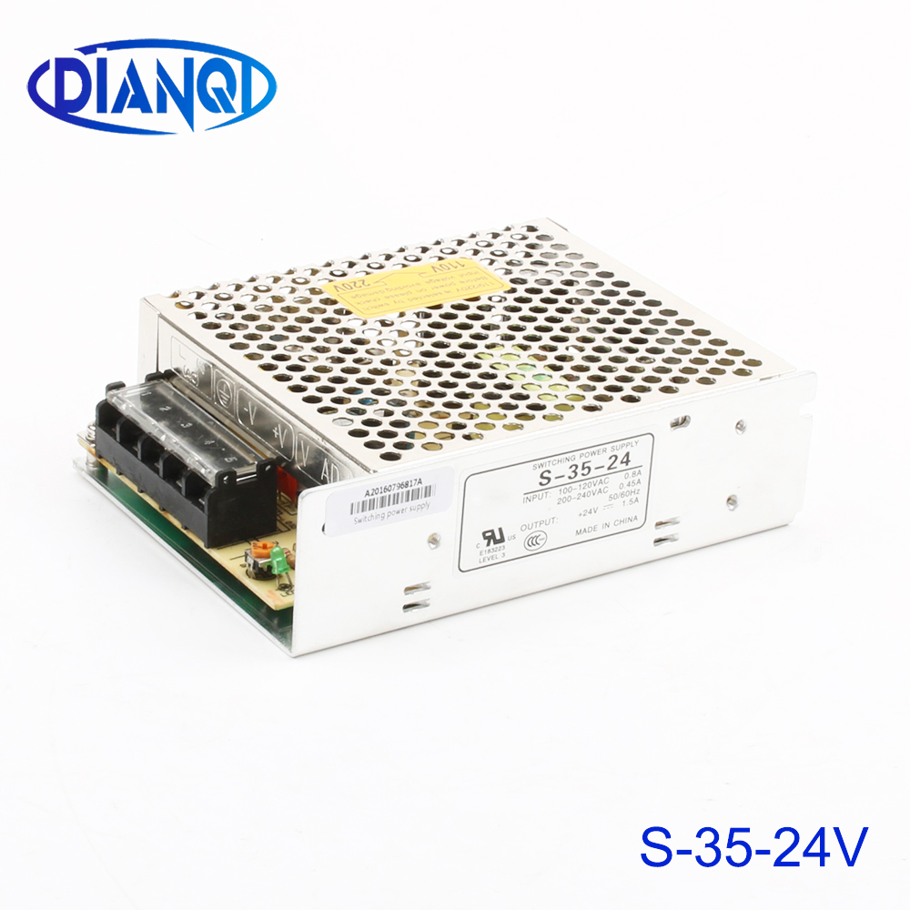 power suply S-35w-<font><b>24V</b></font> <font><b>1.5A</b></font> <font><b>ac</b></font> to <font><b>dc</b></font> power supply switch <font><b>ac</b></font> <font><b>dc</b></font> converter high quality S-35-24 image