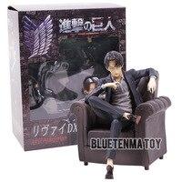 Attack on Titan Black Suit Levi Ackerman Sitting Sofa Ver. PVC Figure Collectible Model Toy