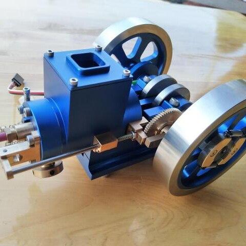 Óleo do motor Do Motor Modelo de Motor Mini Motor de Acertar e Errar Enviar Presente de Aniversário Amigo