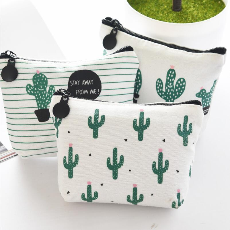 Cartoon Cute Small Kids Women's Purse Coin Money Pouch Sweet Small Wallet Cactus Mini Zipper Pocket Pouch Coin Purse