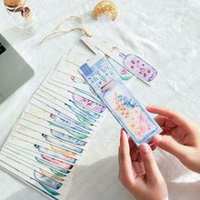 30pcs wish bottle bookmarks for books Lucky plant gift post card book accessories Office School supplies marcapaginas A6065