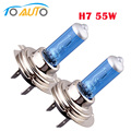2 pcs luzes do carro carros h7 lâmpada 55 w 6000 k halogênio branco Fog Bulb Car Head Lamp Luz 12 V car styling D0020
