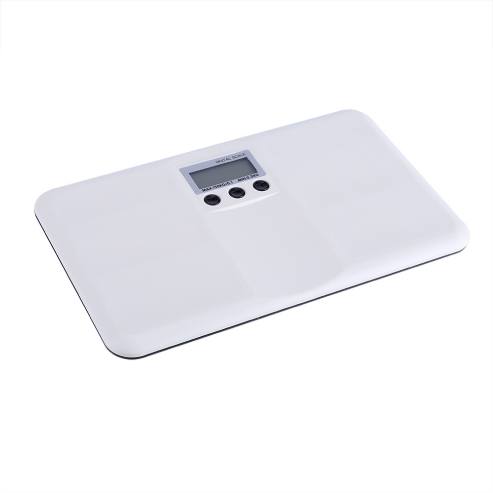 Electronic LCD Digital Weighting Scale On/Tare Function Battery/Lock Alarm Baby Pet Body Weighting Scale
