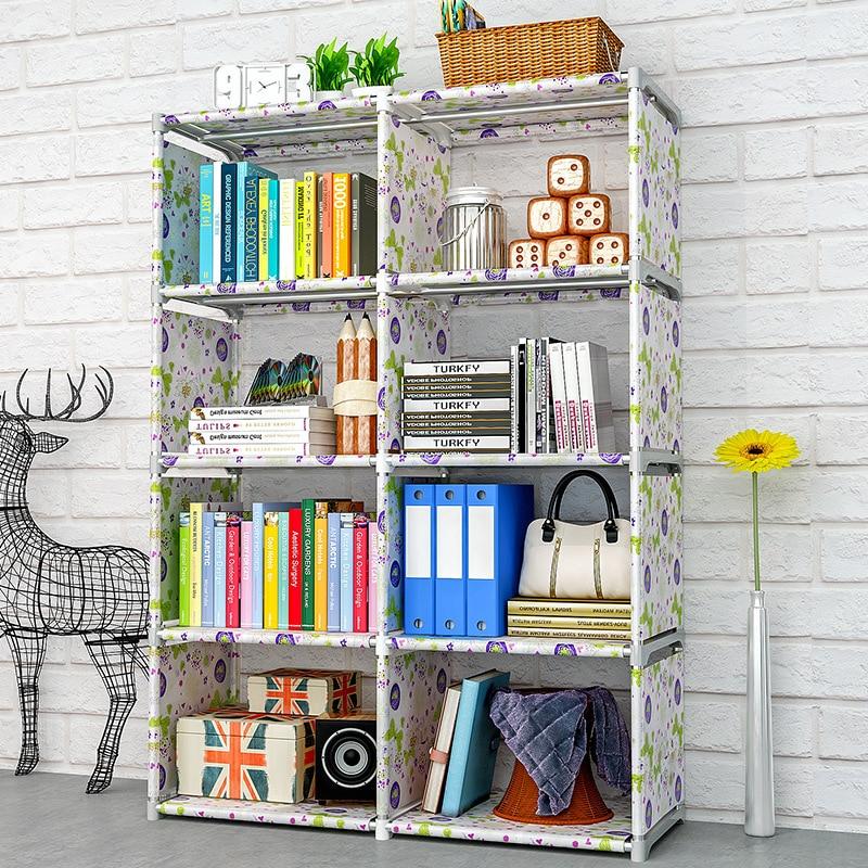 Humorous Costway Bookshelf Storage Shelve For Books Plastic Book Rack Bookcase For Home Furniture Boekenkast Librero Estanteria Kitaplik Without Return Living Room Furniture