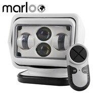 Marloo 1pc 60W Wireless Led Marine Search Light 12V 24V LED Searching Light Remote Control Spot Light Car LED Work Light 12V