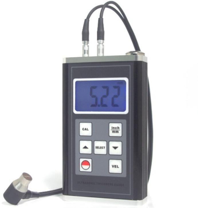 Jauge d'épaisseur à ultrasons TM-8818 en acier en fonte d'aluminium PVC rouge cuivre testeur d'épaisseur de verre de Quartz 0.9 ~ 400mm (acier 45 #)