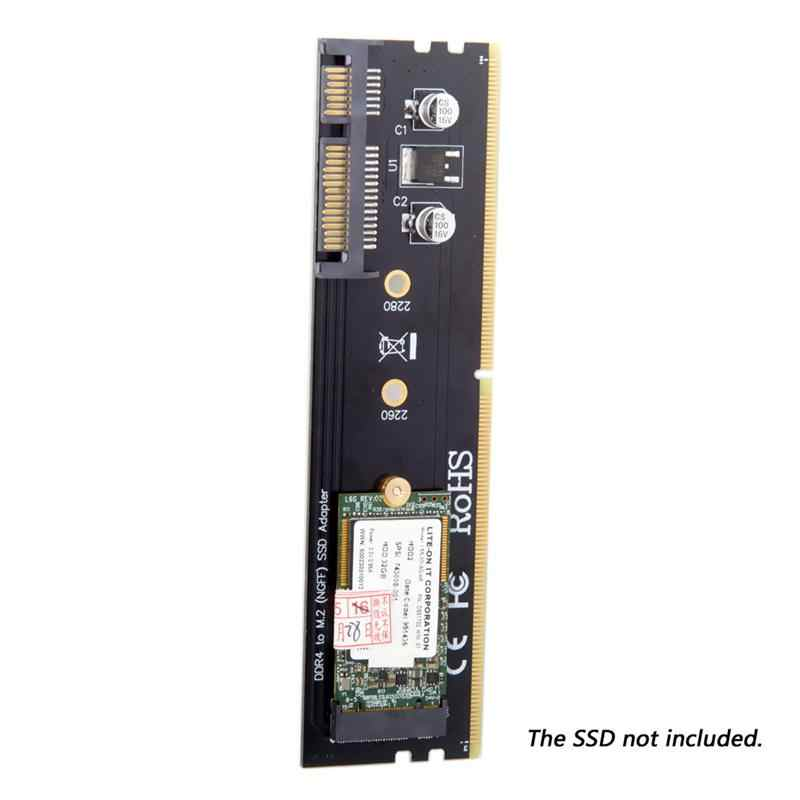 M.2 Ngff B/M-Key Sata Ssd на 22pin жесткий диск Адаптер блока печатных плат с Ddr4 черный разъем поддержка