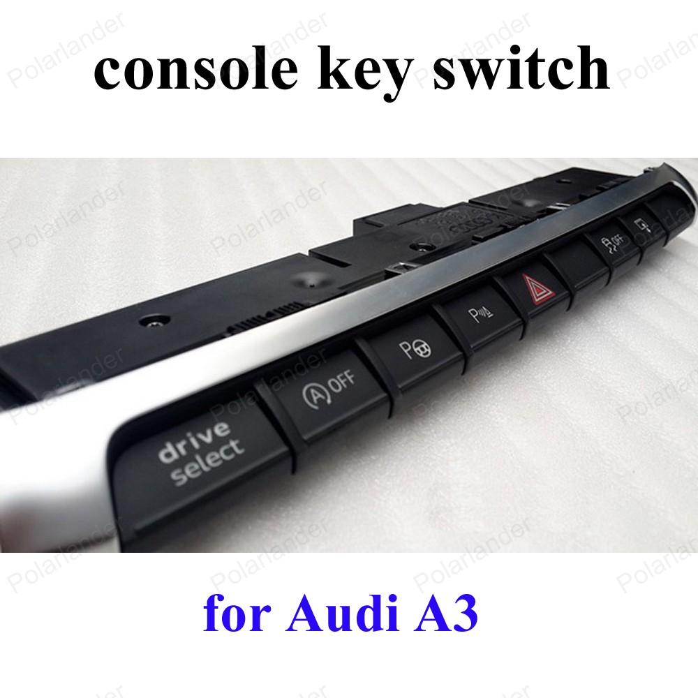 console key press double Flash switch button for A udi A3 multi function switch 8V0 925 301 BM