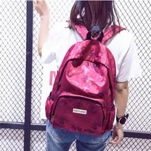print letter School Backpack Women School bag Back Pack Leisure Korean Ladies Knapsack Laptop Travel Bags for Teenage Girls