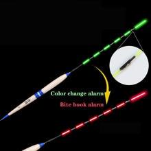 Smart Fishing Float Bite Alarm Fish Bait LED Light Color Change Automatic Night Electronic Changing Buoy Strike Intelligent