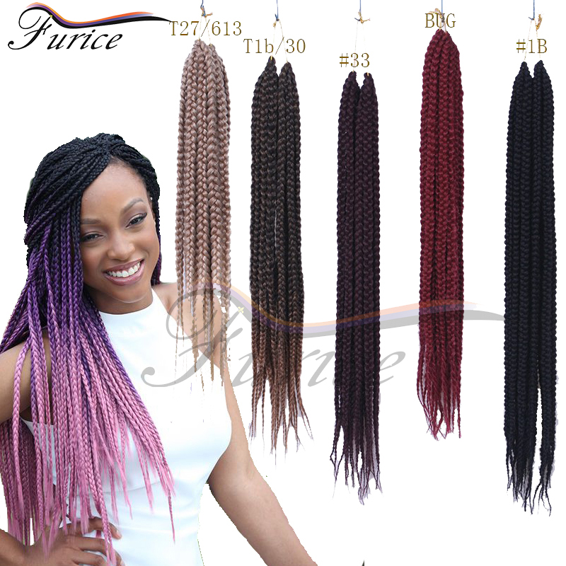 Crochet Box Braids Hair Medium Length Pre twisted BOX Braids Black ...