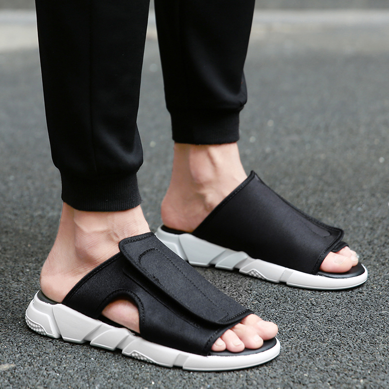425e2070b Hot Sale! 2017 New Arrival Y3 Sandals KAOHE SANDALS hook loop Men Slippers  Open toed Leather Sandals Men Sandals Top Quality-in Men s Sandals from  Shoes on ...