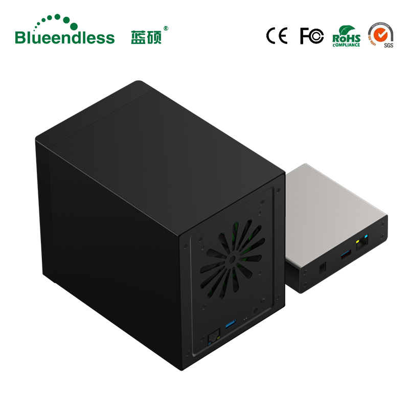 Gigabit Ethernet NAS HDD Enclosure Smart HDD Case for 2.5'' 3.5'' Hard Disk Gigabit Ethernet Interface Nas Remote Access Disk(China)