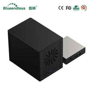 Гигабитный Ethernet NAS HDD корпус смарт HDD корпус для 2,5