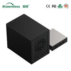 Gigabit Ethernet NAS Box e Alloggiamenti per HDD Smart HDD Caso per 2.5 ''3.5'' Hard Disk Interfaccia Gigabit Ethernet Nas Accesso Remoto disco