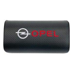 Image 3 - car neck pillows pu leather single headrest  filled fiber car pillow for OPEL Corsa Insignia Astra Antara Meriva Zafira OPC