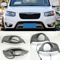 For Hyundai Santa Fe 2010 2011 2012 With Fog Lamp Hole Dimming Style Relay And Waterproof