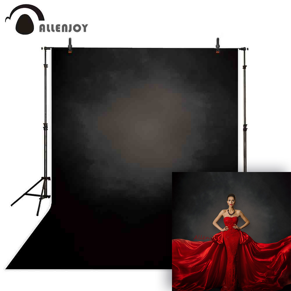 Allenjoy Backdrop For Photographic Studio Black Old Master Style Pure Color Professional Background Original Design Photocall