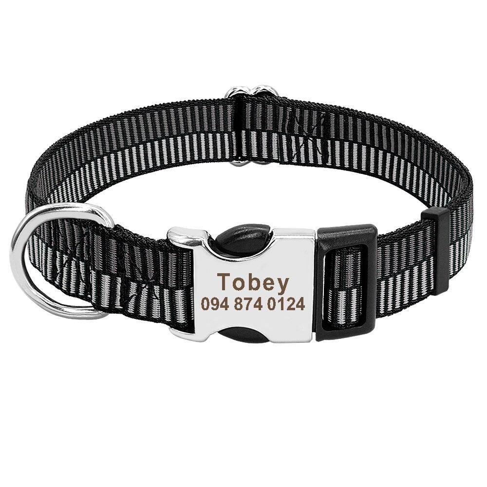 HTB1dLuyM3HqK1RjSZFPq6AwapXaj - Halsband hond met naam en telefoonnummer nylon stoer