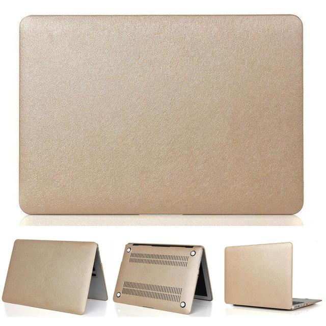 Envío gratis tres regalos notebook cubierta de la Superficie de Seda de Oro Caso Para Mac aire pro retina laptop bag para apple macbook 11 12 13 15