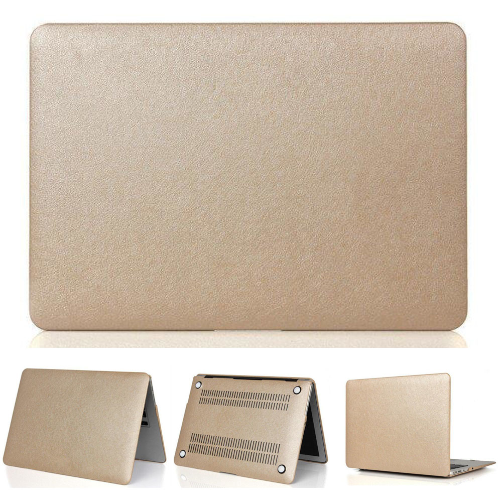 Free shipping three gifts notebook cover Gold Silk Surface Case For Mac Air Pro Retina Laptop Bag For Apple Macbook 11 12 13 15 Price $16.91
