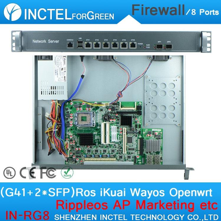 все цены на 8 gigabit lan PFSense firewall appliance with G41 LGA771 1000M 6 82574L 2 Bypass 82580DB gigabit fiber ports онлайн