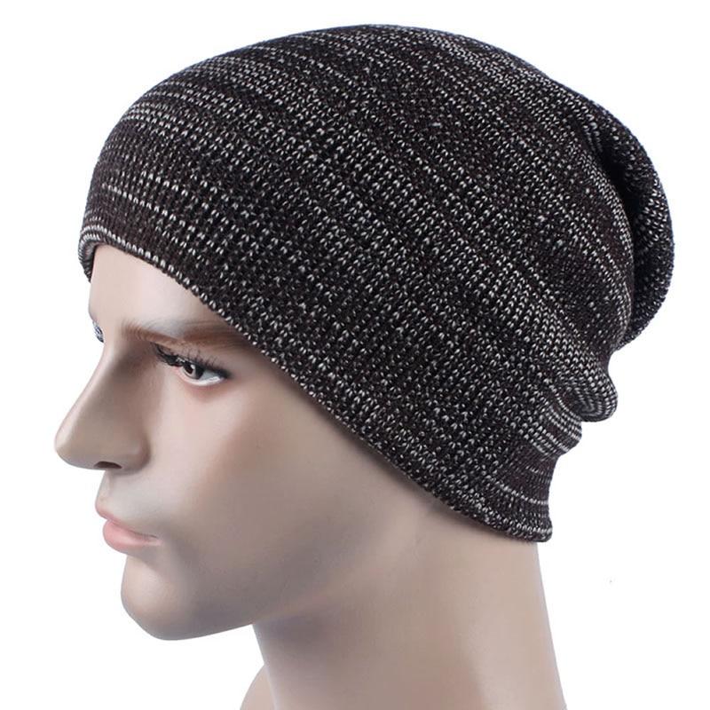 6d01526baeac Unisexe Femmes Hommes Tricot Skullies Bonnets solide Hiver Chaud Oversize  Ski Cap Chapeau