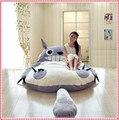 Totoro cama Doble moderna estera Del Amortiguador/Saco de dormir Enorme Cama de la Historieta Linda de memoria colchón de espuma almohadilla Cubierta juego de cama 170x200 CM