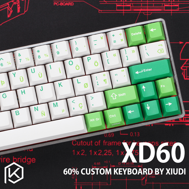 xd60 xd64 Custom Mechanical Keyboard Kit up tp 64 keys Supports TKG-TOOLS Underglow RGB PCB GH60 60% programmed gh60 kle(China)
