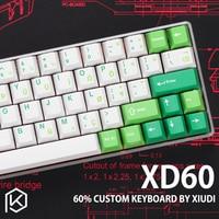 Xd60 xd64 Custom Mechanische Tastatur Kit up tp 64 tasten Unterstützt TKG TOOLS Underglow RGB PCB GH60 60% programmiert gh60 kle-in Tastaturen aus Computer und Büro bei