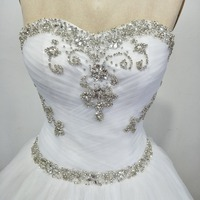 Vestidos De Noiva New Arrival 2018 Vintage Wedding Gowns Cheap Bridal Dress Crystal Wedding Dress Robe