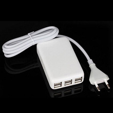 6 Port USB Charger Output Power 25W AC Cable 1.5M For iPhone 4S 5S 5 6 6S 7 Plus iPad Samsung Huawei ZTE Lenovo AC Adapter