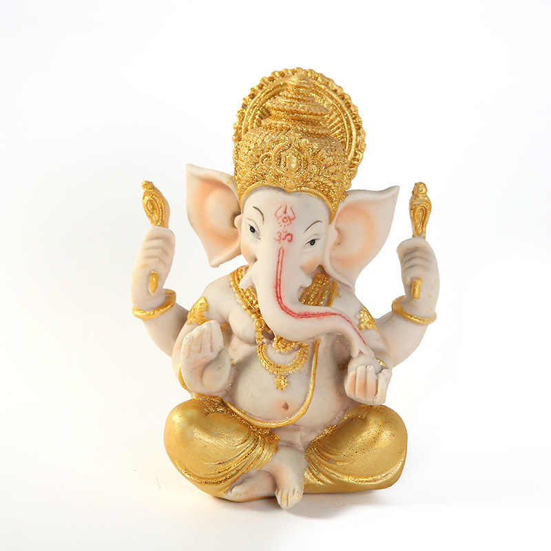Sandstone Indian Style Buddhism Ganesha Statue Decoration Home Furnishings Gift Handicrafts God Figure Statue Sculpture