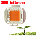10PCS /LOT 45mil High Power 30W 30V 900mA full spectrum 400~840nm SMD LED grow Chip EPILED Light Lamp for plant grow