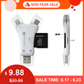 Kaartlezer 4 in 1 i Flash Drive USB Micro SD & TF Kaartlezer Adapter voor iPhone 5 6 7 8 X voor iPadMacbook Android Camera Tpye C