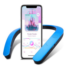 Surround Sound System Active Column Micro Bluetooth Neck Speaker Audio Water Proof Portable Wearable External Speaker For Phone
