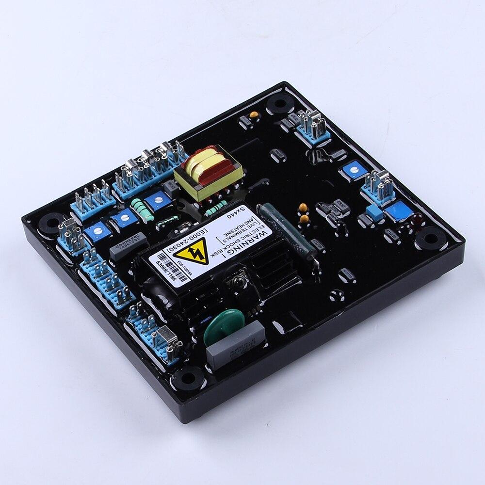 SX440 генератор AVR Автоматический Напряжение регулятор переменного тока Регулируемый 3 фазы универсальный дизельный деталь генератора стабилизатор