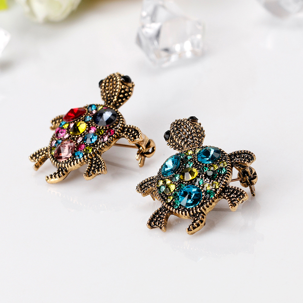 Korean Personality Cute Retro Small Turtle Brooch Animal Brooch for Women Scarves Dress Buckle Brooch Pins Jewelry Accessories