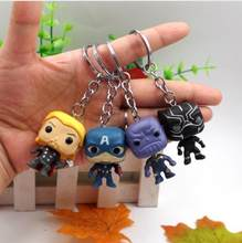 4 Pcs/set Marvel Avengers 4 Thanos Thor Kapten Amerika Panther Spiderman Iron Man Hulk Deadpool Gantungan Kunci Gantungan Kunci Koleksi Mainan(China)