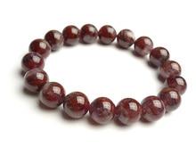 Top Natural Canada Auralite 23 Red Purple 11mm Round Beads Bracelet Crystal Women Men Fashion Stone Bracelet Jewelry AAAAA цена и фото