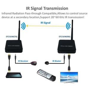 Image 4 - ZY DT216 HD Wireless Transmission System Wireless HDMI Extender Transmitter Receiver Video WIFI 100m Wireless HDMI TV Sender Kit