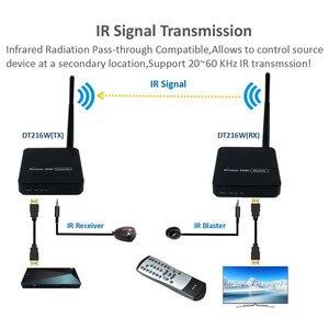 Image 4 - ZY DT216 hdワイヤレス伝送システムワイヤレスhdmiエクステンダートランスミッタレシーバビデオwifi 100mワイヤレスhdmiのテレビ送信者キット