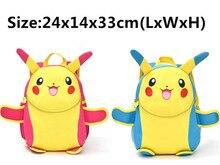 Pokemon Schultaschen Pikachu Rucksäcke Für Kinder Jugendliche Kinder Geschenk Anime Schultern Tasche 24x14x33 cm
