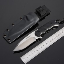 Fox Luxury Tactical Hunting Knife D2 Steel Blade G10 Handle Outdoor Survival Camping Tools 61HRC High Hardness